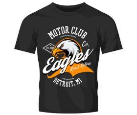 eagles t-shirt black vintage vector