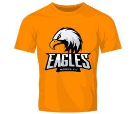 eagles t-shirt orange vector