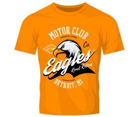 eagles t-shirt orange vintage vector