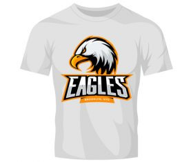 eagles t-shirt white vector