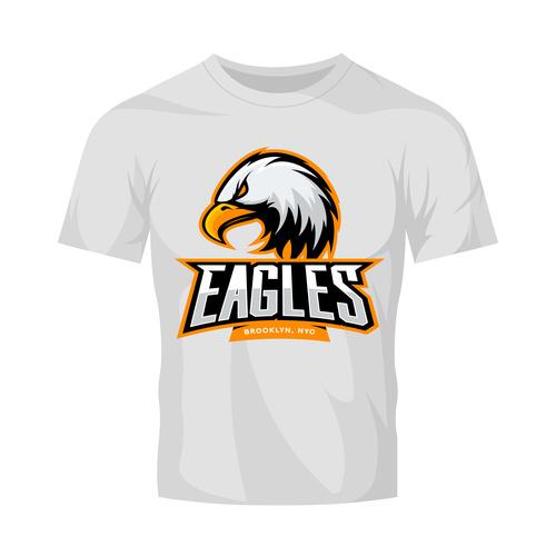 eagles t shirt white vector