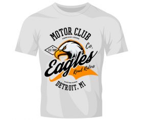 eagles t-shirt white vintage vector