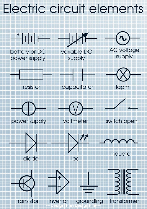 electric circuit elements vector