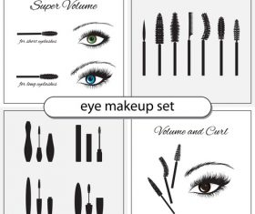 eye makeup set vector
