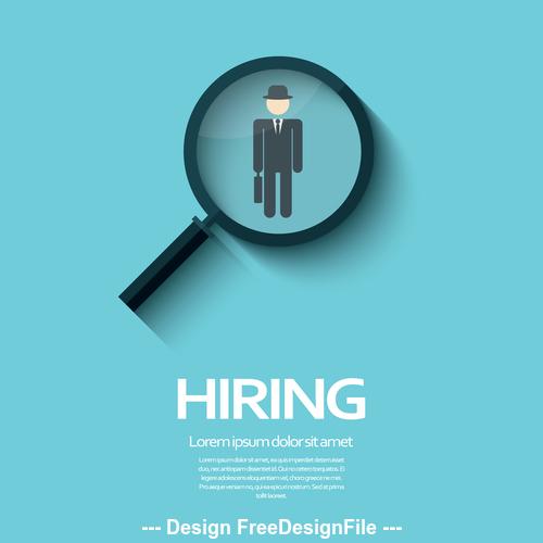 hiring logo stock photo