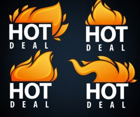 hot deal emblems vector