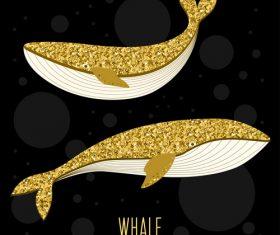 luxury whale vector
