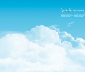 nature background with blue sky and white clouds vector