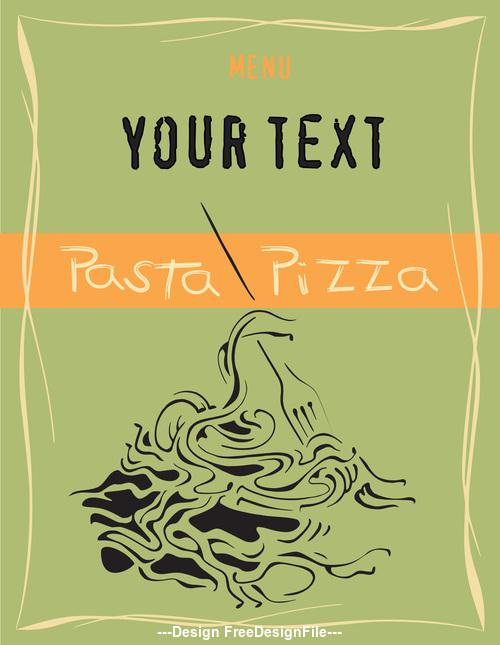 pasta pizza Green leaflet vector