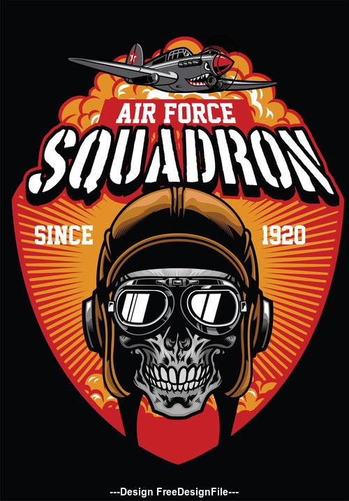 pilot air force squadron vector