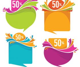 sale stickers vector