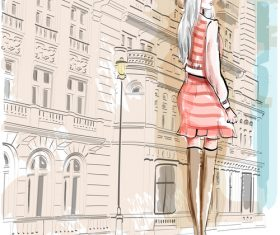 street fashion vector