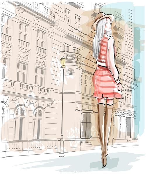 street fashion vector
