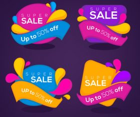 super sale banners vector
