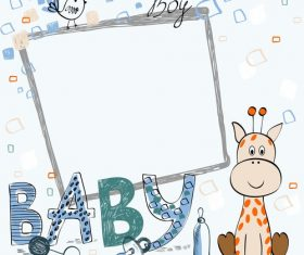 vector Cartoon Baby Frame