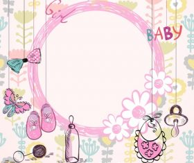 vector Cartoon Baby Toy Frame
