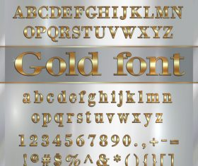 vector White background gold font