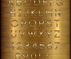 vector Wooden background gold font
