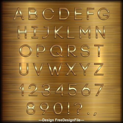 vector Wooden background gold font
