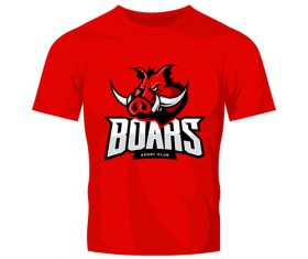 vector boars t-shirt red