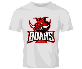 vector boars t-shirt white