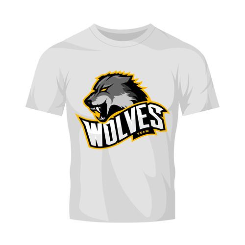 wolves t shirt white vector