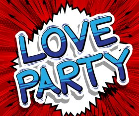 wordaaaa love party vector