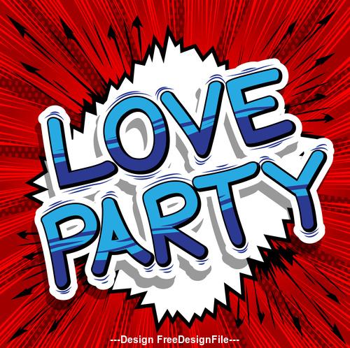 wordaaaa love party vector