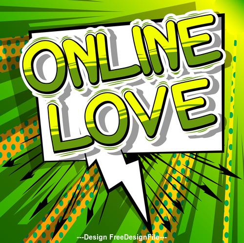 wordaaaa online love vector