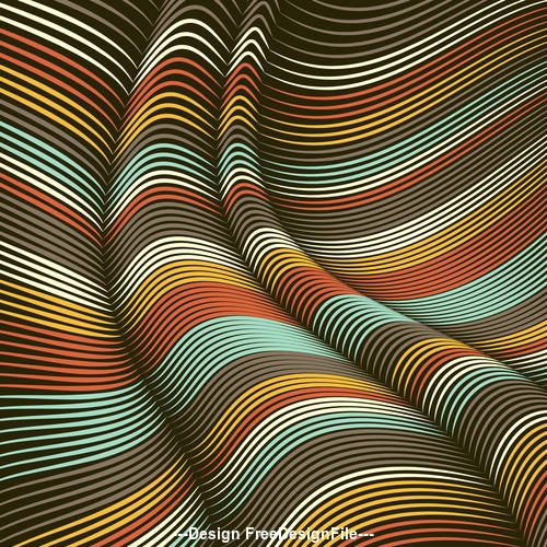 Сreative blend decorative geometric background vector 03