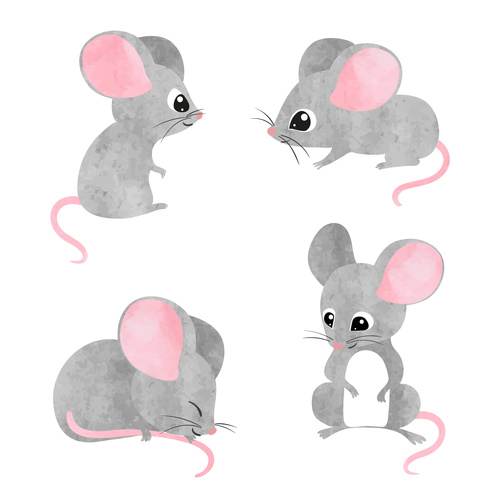 Cartoon 2020 rat new year vector