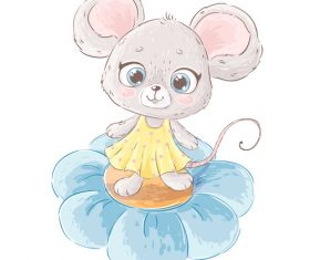 2020 new year cute cartoon mouse vector