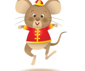 2020 new year happy rat vector