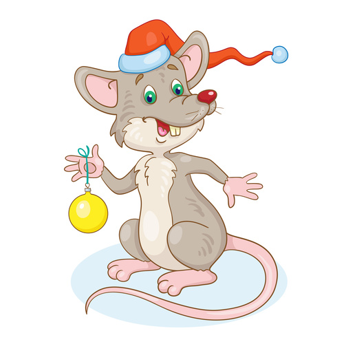 2020 rat cartoon new year illustration vector