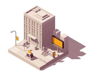 3D building vector