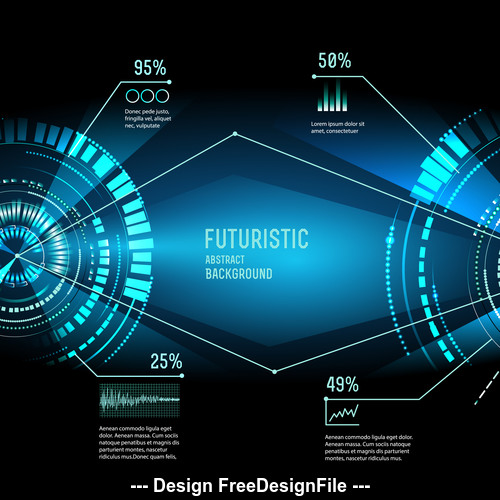 Abstract Futuristic techno background vector