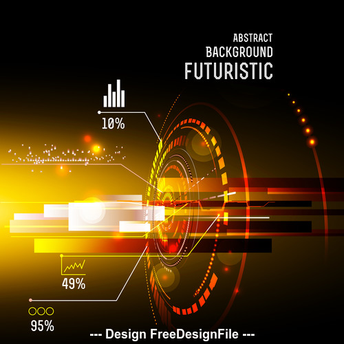 Abstract background futuristic hud vector background