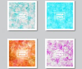 Abstract backgrounds card vector
