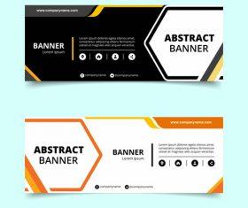 Abstract banner template design vector