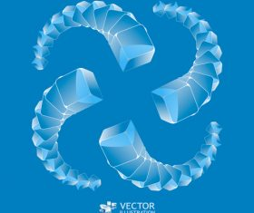 Abstract blue background combination background pattern vector