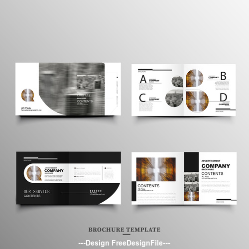 Abstract business brochure cover vector