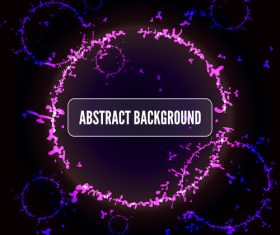 Abstract circles background place for your text vector