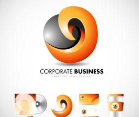 Abstract corporate logo design vector