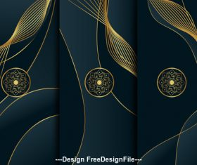 Abstract floral art template vector