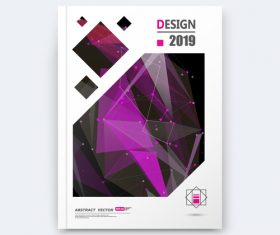 Abstract geometric background brochure design vector