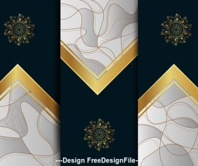 Abstract geometric color background template vector