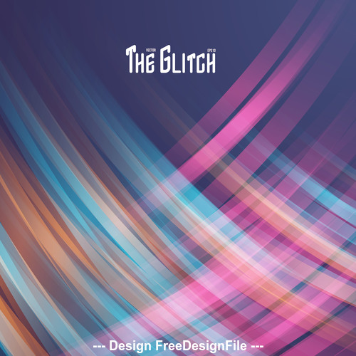 Abstract glitch striped background vector