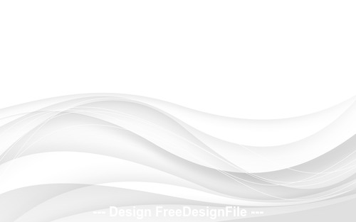 Abstract gray background with wave Vector illustration