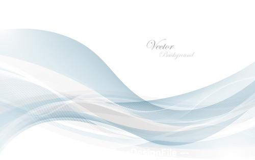 Abstract gray waves data stream concept Vector