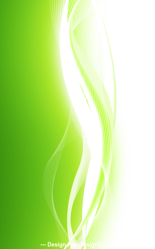 Abstract green waves data stream concept Vector illustration